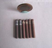 6 x DOLLHOUSE BARBIE MINIATURE LOOSE CIGARS CIGAR 1:6 SCALE