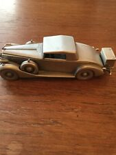 """Danbury Mint England Pewter Car 1937 Packard Coupe 5 3/8"""" Long"""