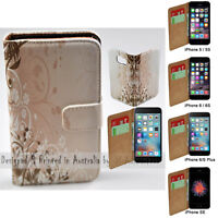 For Apple iPhone Series Case Chaotic Floral Print Wallet Mobile Phone Case Cover