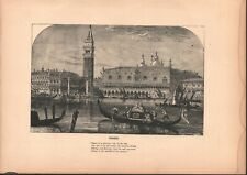 Vintage Art Print - Venice - 1877 - Taken From An Engraving on Wood