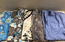Womens Size Medium Scrubs Uniform Top Shirt Lot