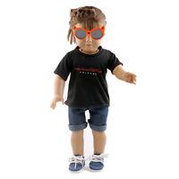 Puppe Kurzarm T-Shirt Kleidung für 18 Zoll amerikanische Mädchen-Puppe Schw K9B0