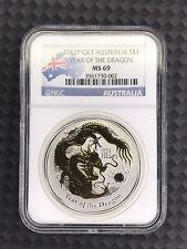 2012 P GLT Australia $1 Year Of The Dragon