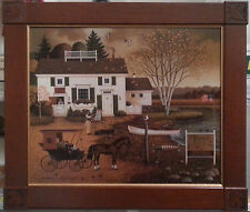"Charles Wysocki – Limited Edition Lithograph on Canvas  ""Birch Point Cove"""