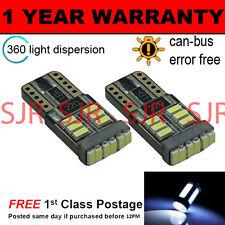 2X W5W T10 501 CANBUS ERROR FREE BIANCO 18 SMD LAMPADE LUCI POSIZIONE LED