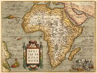 Map 1584 Ortelius Africa Map Picture Canvas Art Print
