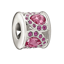 Chamilia Royal Petals Pink And Purple Bead In 925 Sterling Silver,2083-0452