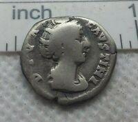 Ancient ROMAN SILVER COIN denarius Faustina I Antoninus Pius wife 148AD #372
