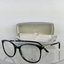 New Authentic Swarovski Eyeglasses SW 5163 FANCY 052 52mm Tortoise Frame