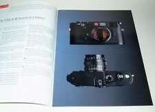 LEICA M6 CLASSIC PHOTOGRAPHY BROCHURE IN NEAR PERFECT CONDITION