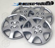 "Wheel Cover Replacement Hubcaps 14"" Inch Metallic Silver Hub Cap 4pcs Set #888"