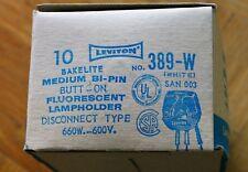 Leviton 389-W Medium Base Bi-Pin Butt-On Fluorescent Lampholder (Package of 10)
