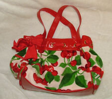 Juicy Couture Cherry Purse Red White Terry Shoulder Bag