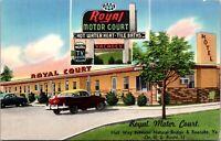 Postcard Royal Motor Court Motel in Roanoke, Virginia~136746