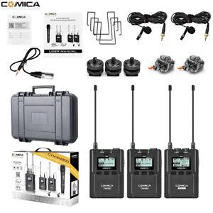 Comica CVM-WM200A 96-Channel Full Metal UHF Professional Wireless Dual  Lavalier