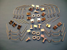 Serra/Riparazione Kit 50 W +50Z vetri Clip + 50 dadi in alluminio tagliato + BULLONI