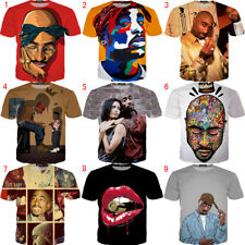 Fashion Women/Men Gangsta Rap 2PAC Tupac Funny 3D Print Casual T-Shirt Tee Tops