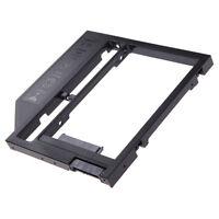 9.5mm Universal SATA 2nd HDD SSD Hard Drive Caddy for CD/DVD-ROM Optical Bay#