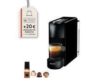 Cafetera de cápsulas - Nespresso Krups XN1108 Essenza Mini, 19 bares, Negro