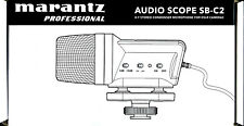 Marantz Professional Audio Scope SB-C2 X/Y Stereo Condenser Microphone For DSLR