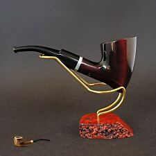 HAND MADE WOODEN TOBACCO SMOKING PIPE  no. 68 Tomahawk  Red  Pear  + Filter