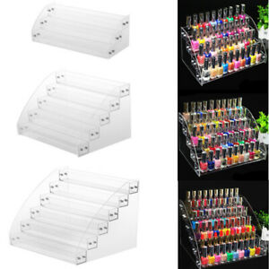 Acrylic Nail Polish Varnish Organiser Holder Desk Top Storage Display Stand Rack