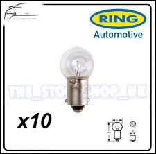 TRADE PACK of 10 Ring R992 12V 10W BA9s Light Bulb Side & Tail