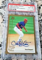 CARLOS PENA 1999 Topps Traded #1 Draft Pick AUTO Rookie Card RC PSA 8 $ 286 HRs