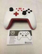 NINTENDO SWITCH POWERA ENHANCED WIRELESS MOTION CONTROLLER. WHITE/RED. GOOD!