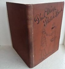 Large Vintage Book 1895 Phil May's Sketch Book Caricatures Social History