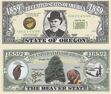 50 Oregon OR State Quarter Novelty Money Bills Lot