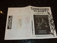 2000 AD Comic - FORBIDDEN PLANET MAIL ORDER CATALOGUE - Date 1991 - UK COMIC