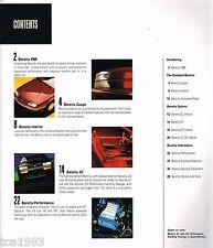 Lrg. 1988 Chevrolet BERETTA Brochure / Catalog with Color Chart: GT,SE,Z51,Z-51