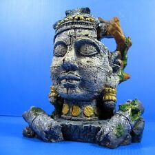 Ancient Jungle Statue Ruins Cave18 X 12X 21cm Aquarium Ornament Decor Fish Tank