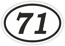 71 SETTANTUNO numero Ovale Adesivo Paraurti Decalcomania Motocross Moto aufkleber