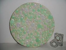 """COOL LARGE PLATTER  MID CENTURY MODERN ROCK ABSTRACT CHARGER 15"""" DIA."""