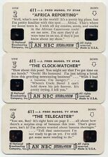 VINTAGE NBC STORI VIEW CARDS J. FRED MUGGS TV STAR SERIES VIEWMASTER,SET OF 3