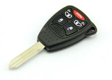 Uncut Blade Blank Key Remote Shell Case Cover For Chrysler Dodge Jeep 5 Buttons
