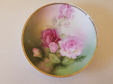 """Vintage Thomas Sevres Bavaria Decorative Signed Plate Hand Painted Roses 10"""""""