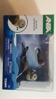 ANIA  SEA OTTER Animal Figures Mother with Baby USA Seller