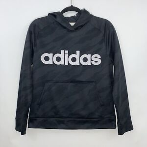 Adidas Boys Youth Adidas Spellout Pullover Hoodie Black Size Large 14-16