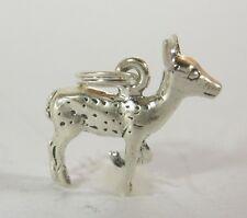 Doe Deer Charm Pendant .925 Sterling Silver USA Made Travel Souvenir Jewelry