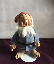 Disney Porcelain Snow White & The Seven Dwarfs Sneezy Doll W/Stand