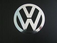 V W Golf Polo  wheel centre decal trim stickers X 4 Chrome