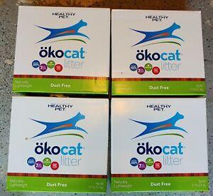 Lot Of 4 OkoCat Dust Free 100% Natural Paper pellet Cat litter 5.1 lb (20.4lbs)