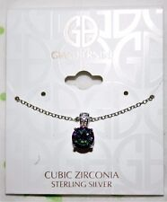 Giani Bernini Sterling Silver Mystic Solitaire Topaz CZ  Necklace NWT $100