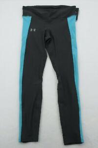 UnderArmour Womens Heat Gear Leggings Black Teal Size Medium Large XL NWT Pocket