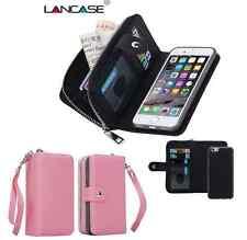 Apple Iphone 6 PLUS / 6s PLUS Purse wallet / pink /detachable phone holder