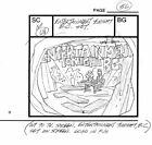 3 LOT Flintstones Hollyrock Storyboard Hanna Barbera Signed Bob Singer 1993 ET