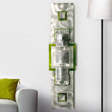 Large Modern Abstract Office Metal Wall Art Decor Sculpture - Lime Medallion